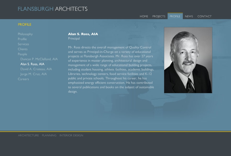 Alan Ross Profile from Flansburgh Associates Website