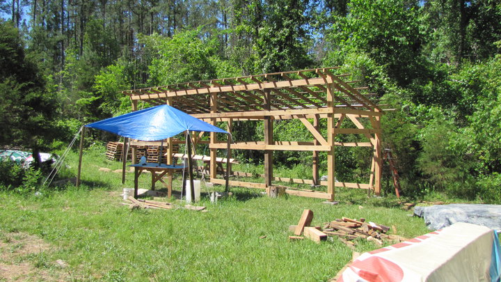 DIY Pole Barn Shed Roof Design PDF Plans Download